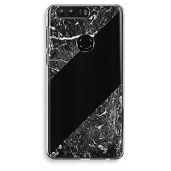 Honor 8 Transparent Case (Soft) - Black marble