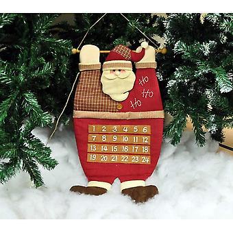 Зимородок плюшевые висит Санта отец Рождество Xmas Адвент календарь