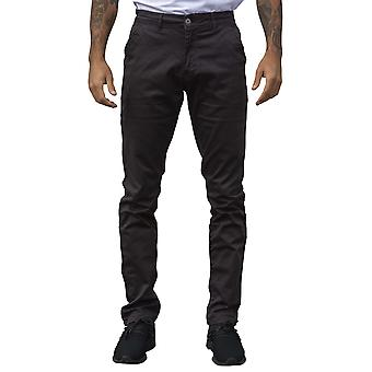 Mens Tapered Fit Charcoal Stretch Pants | Enzo Designer Menswear
