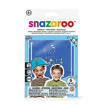 Snazaroo SZ1198011 Adventure Face Paint Stencils - Set of 6