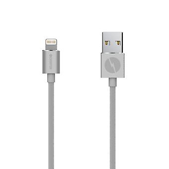 Champion Lightning kabel 2m Silver. iPhone, iPad