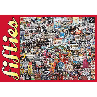 Fifties Memorabilia Collage 500 piece jigsaw puzzle 690mm x 480mm (jg)