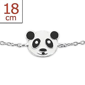 Panda - 925 Sterling Silver + epoxi färg armband - W23468x