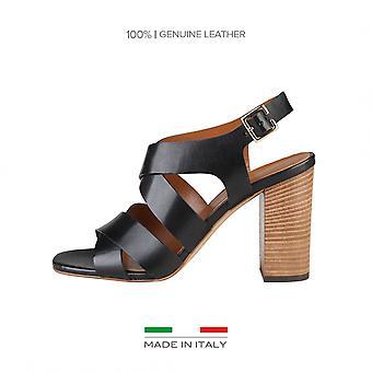Made in Italy Black Sandal LOREDANA Woman spring/summer