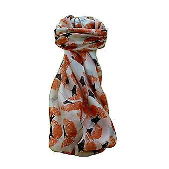 Coral di Datia Mulberry Silk contemporanea Piazza sciarpa di Pashmina & seta