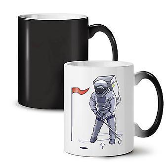 Space Golf Moon NEW Black Colour Changing Tea Coffee Ceramic Mug 11 oz | Wellcoda