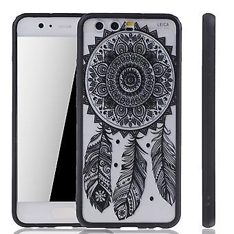 Mobile Shell mandala voor Huawei P10 ontwerp gevaldekking van het ontwerp dream catcher dekken bumper zwart