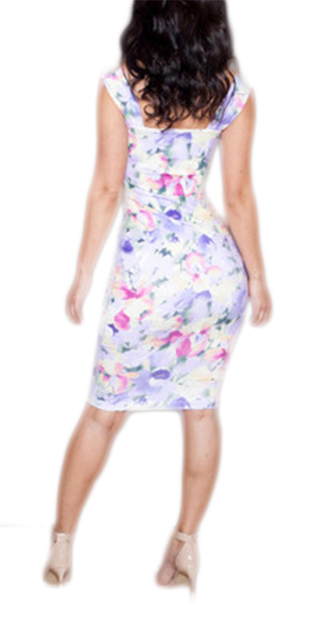 Waooh - Kleid gedruckte Blumen Dianus