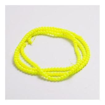 Strand 200 + gule Neon glas 4mm almindelig runde perler Y03755