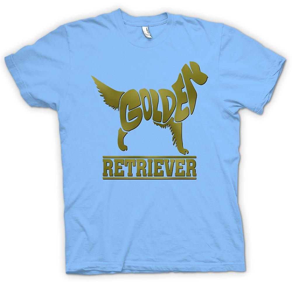 Mens T-shirt-Golden Retriever
