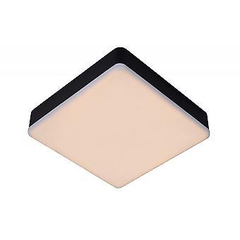 Luce di soffitto di lucide Ceres-LED moderna Piazza alluminio bianco e nero