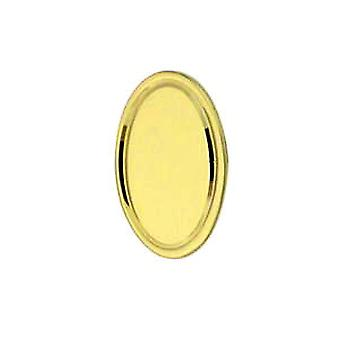 18ct Gold 13x8mm oval engine turned line border Tie Tack