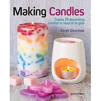 Machen Kerzen: Erstellen Sie 20 dekorative Kerzen zu halten oder zu geben