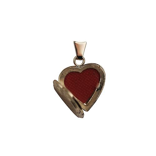9ct Gold 17x17mm hand engraved flat heart shaped Locket