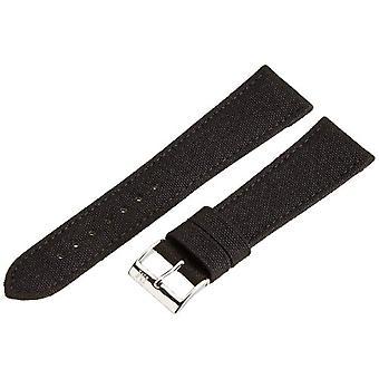 Morellato black leather strap 22 mm black CORDURA/2 man A01U2779110019CR22