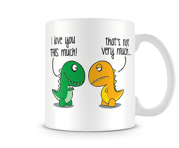 Decorative Writing I Love You Dinosaurs Printed Mug