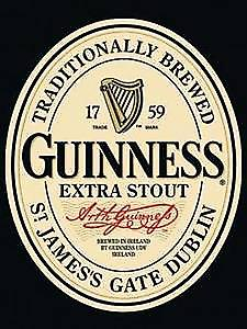 Guinness Label steel fridge magnet
