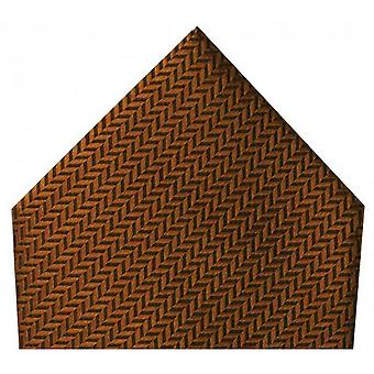 David Van Hagen Herringbone Silk Handkerchief - Copper