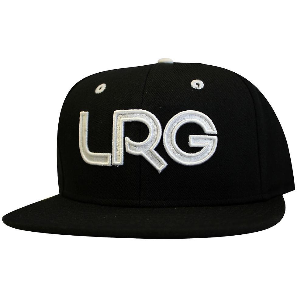 Lrg Branded Snapback Hat Black White