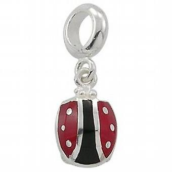 TOC BEADZ 925 Silver Dangle Ladybird 2mm Slide-on Bead