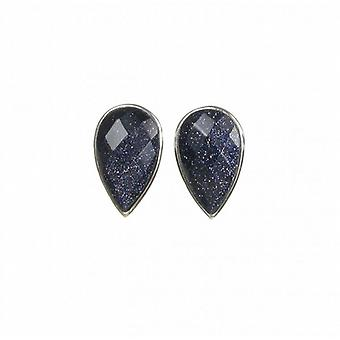 Cavendish French Tiny Blue Sandstone Teardrop Earrings