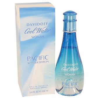 Cool Water Pacific Summer by Davidoff Eau De Toilette Spray 3.4 oz / 100 ml (Women)