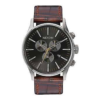Nixon The Sentry Chrono Leather marrone Gator (A4051887)