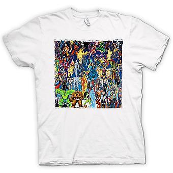 Heren T-shirt - Marvel Comic Super Hero - Collage