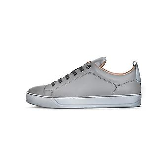 Lanvin Lanvin Light Grey Reflective Panel Leather Sneaker