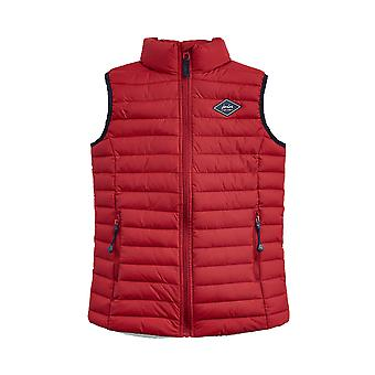 Joules Junior Crofton Pack Away Gilet - Rojo