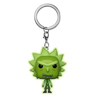 Rick and Morty Toxic Rick Glow US Pocket Pop! Keychain