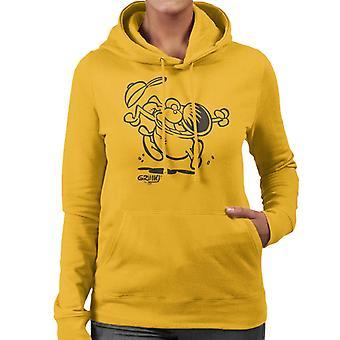 Grimmy Crazy Jump Women's Hooded Sweatshirt