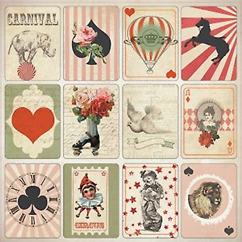 ScrapBerry's Vintage Circus Single-Sided Cardstock 12