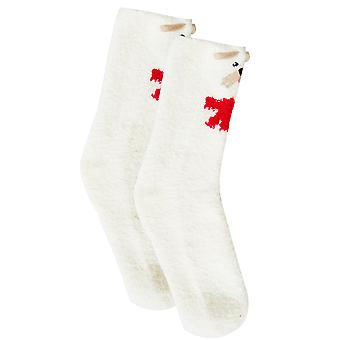 Wit & Multi Scotty Dog gezellige sokken