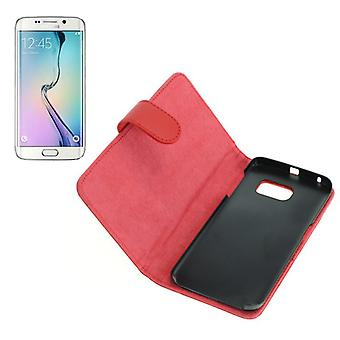 OTB bag (leather) for Samsung Galaxy S6 edge SM G925 Bookstyle Red