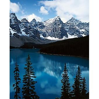 Lake Moraine Banff National Park Alberta Canada Poster Print by Charles Gurche