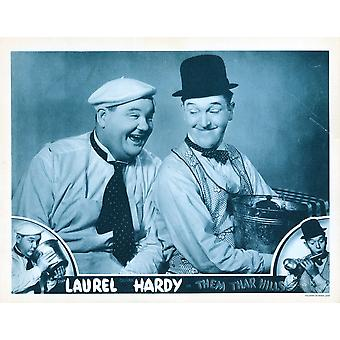 Them Thar Hills Us Lobbycard Bottom And Center From Left Oliver Hardy Stan Laurel 1934 Movie Poster Masterprint