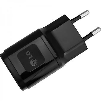 LG travel charger USB power adapter 1800mAh MCS-04ED with USB data cable for LG G2 G3 G4 Flex - black