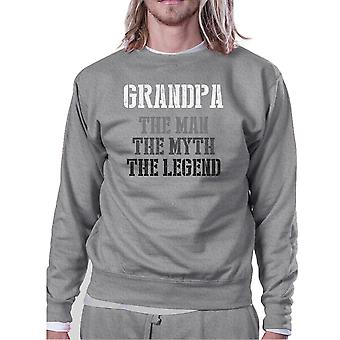 Grandpa Man Myth Legend Sweatshirt Christmas Gift For Grandfather