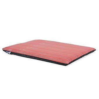 Sömnig tassar platta Pad röd med grå rand 107 X69cm