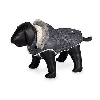 Nobby Polar Dog Coat Grey With Hood 29cm