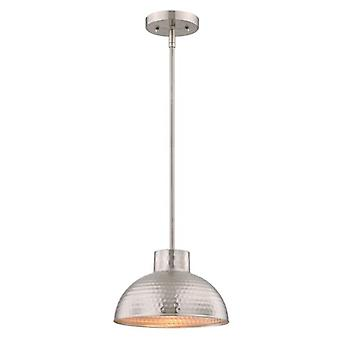 Westinghouse One-Light Pendant brushed nickel