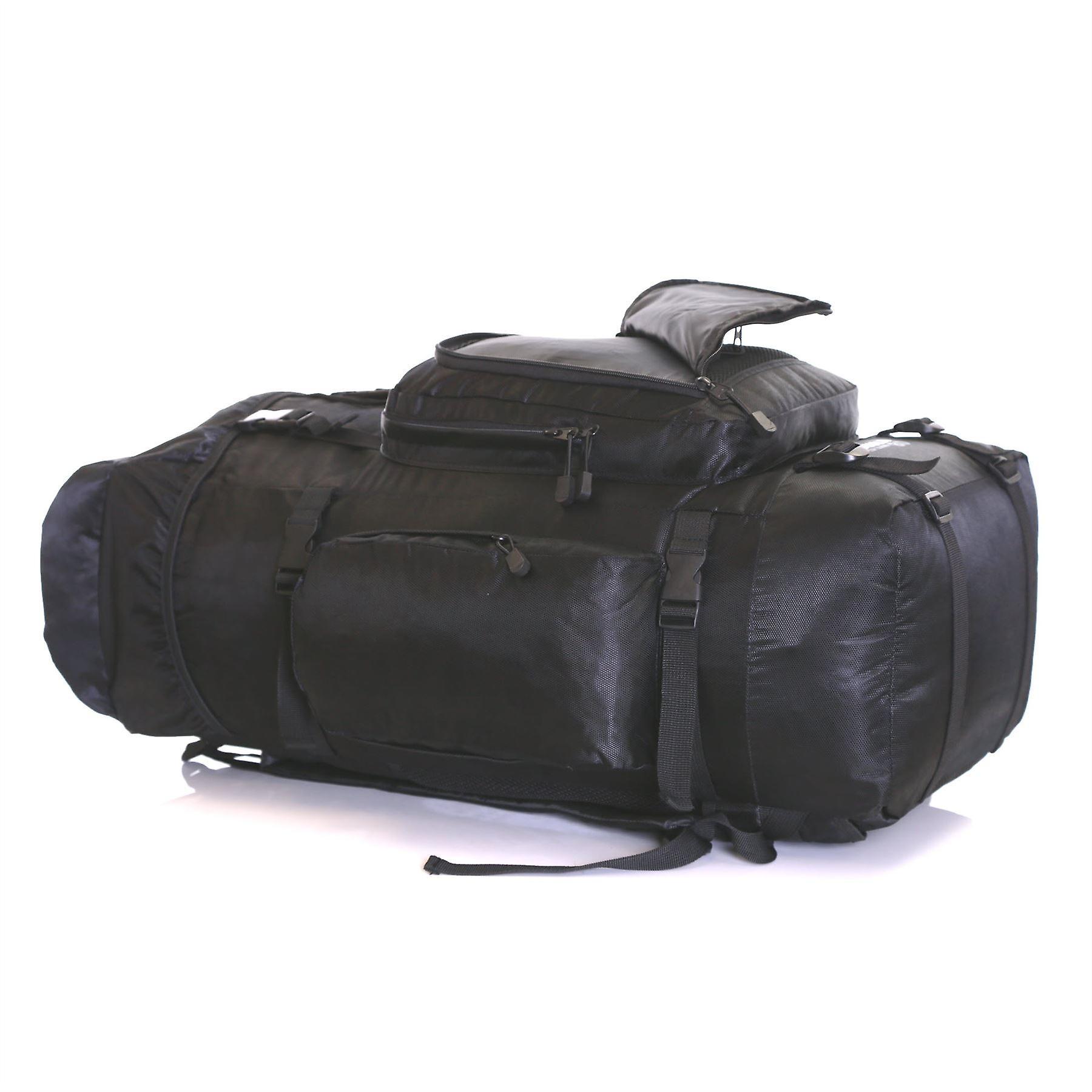 Karabar Makalu 80 Litres Travel Backpack, Black/Red