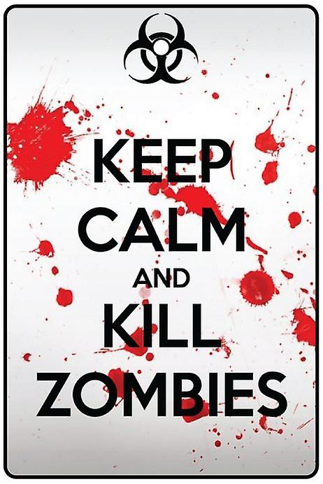 Keep Calm And Kill Zombies Car Air Freshener