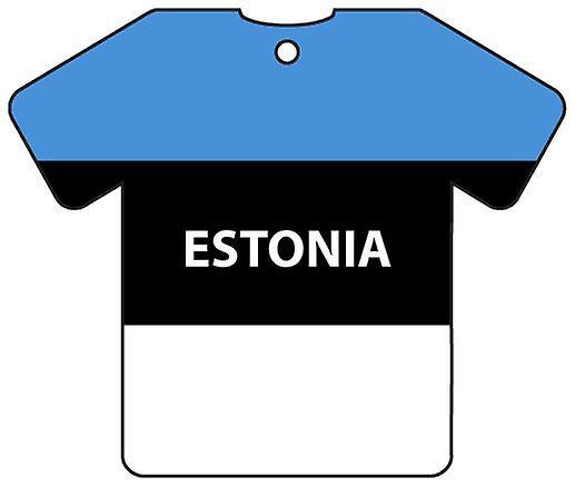 Personalised Estonia Flag Jersey Car Air Freshener