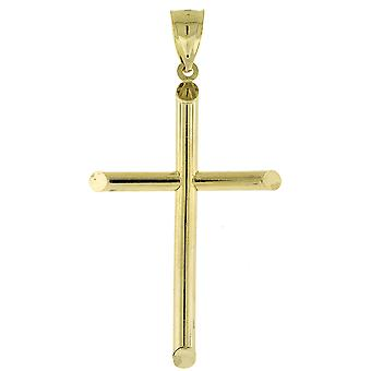 925 iced out silver pendant - LIGHT CROSS gold