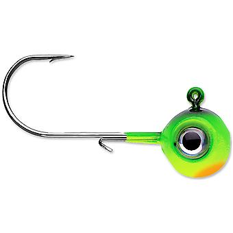 VMC Neon Moon Eye 1/8 Oz. 3D Holographic Jig - 4 Pack - Firetiger