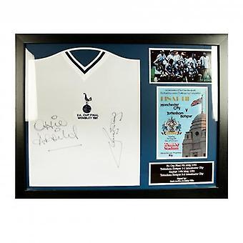 Tottenham Hotspur Ardiles y Villa firmaron camisa (enmarcada)