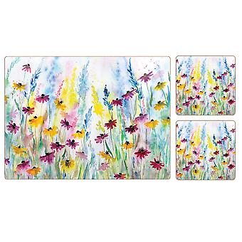 I Style Daisy Field Placemats & Coasters, Set of 4