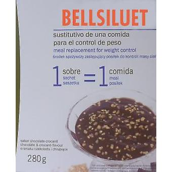 Kiluva Slimbel Chocolate Custard With 5 Envelopes Crocanti (Diet , Desserts)